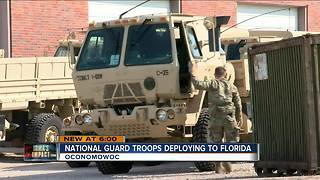 Wisconsin National Guard troops deploy for Irma relief - Video