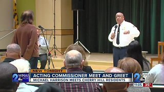 Acting Commissioner Harrison meets people in Cherry Hill