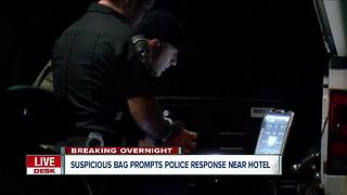 Niagara Falls police investigating overnight suspicious bag - Video
