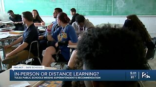 TPS Superintendent talks recommended options for a possible return to classrooms