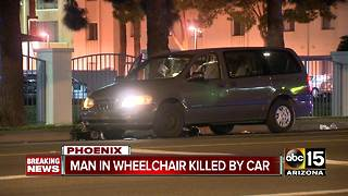 Man hit and killed crossing Phoenix street in wheelchair - Video