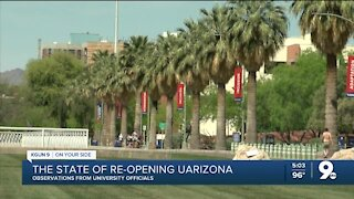 The state of re-opening UArizona, observations from university officials