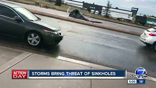 Storms bring threat of sinkholes - Video