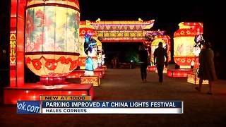 Parking improved at China Lights Festival - Video