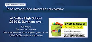 Back-to-school backpack giveaway through Nevada Coin Mart