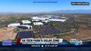 Experts to discuss new phase of UA Tech Park's Solar Zone