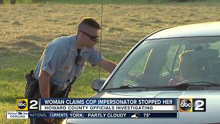 Howard Co. police investigating possible cop impersonator - Video