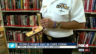 SWFL Military Museum celebrates Purple Heart Day - Video
