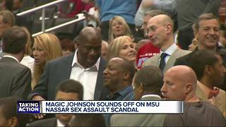 Magic Johnson tweets on MSU scandal - Video