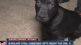 Real life 'Grinch' steals six-year-old's christmas pressents - Video
