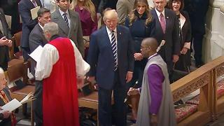 Trump Snubs Clergyman At Prayer Service - Video