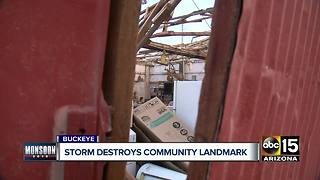 Storm destroys family business in Buckeye - Video