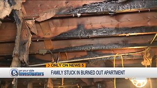 Euclid family demands CMHA move them out of burned-out apartment building