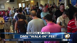 $15 fee for walking into the DMV?