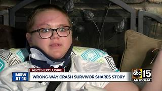 Valley teen recovering from crash involving wrong-way driver near Holbrook
