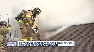 60 families question what's next after fire rips through apartment