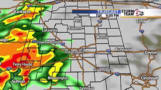 Rain likely Tuesday night. - Video