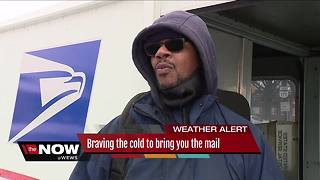 Mail carrier braves freezing temps to deliver mail