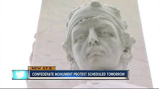 Confederate Monument protest - Video