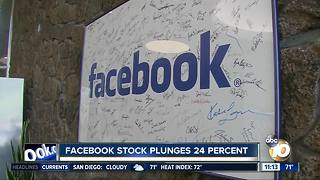 Facebook stock plunges 24% - Video