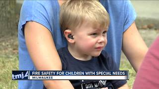 Children with special needs learn fire safety - Video