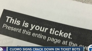 NYS cracks down on ticket bots - Video