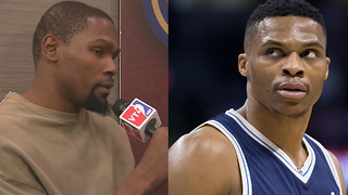 Kevin Durant Says He's Friends With Russell Westbrook, But There's Still A Problem - Video