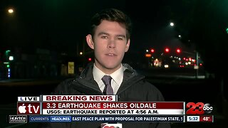 3.3 magnitude earthquake hits Oildale