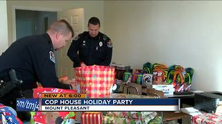 Cop House transforms for Holiday Party - Video