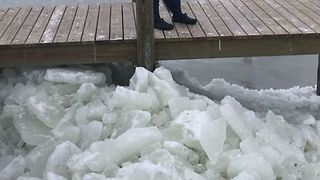 Ice Shoves Form on North Carolina's Outer Banks - Video