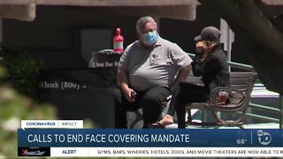 Push to end face covering mandate in San Diego