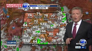 Hot weather with a few thunderstorms - Video