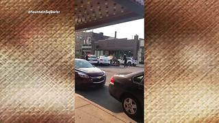 WATCH: Dramatic ending to IMPD car chase caught on video in Fountain Square - Video