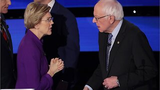 """Bernie Sanders says """"weather"""" was all he and Warren discussed after debate"""