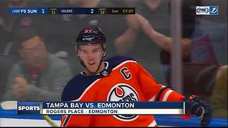Connor McDavid scores 4 goals, rising Edmonton Oilers beat Tampa Bay Lightning 6-2 - Video