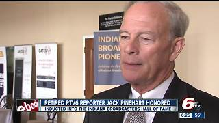 Retired RTV6 reporter Jack Rinehart inducted into Indiana Broadcasters Hall of Fame - Video