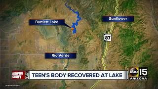 Teen's body recovered at Bartlett Lake - Video