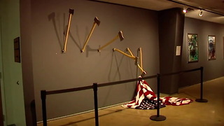 Artist of University's Controversial American Flag Piece Has Rare Personal Connection to It - Video