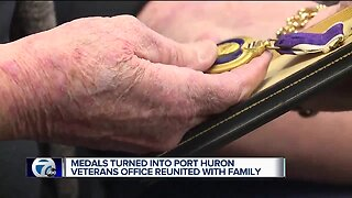 Medals turned into Port Huron veterans office reunited with family