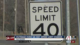 Speed limit changes on 58 Highway in Raymore - Video