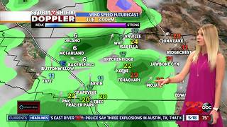 Warm temperatures today with rain chances across the county starting tomorrow afternoon - Video