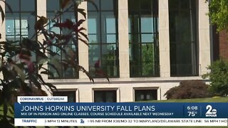 Johns Hopkins University fall plans