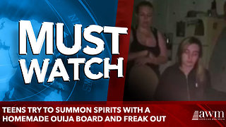 Teens try to summon spirits with a homemade ouija board and freak out - Video