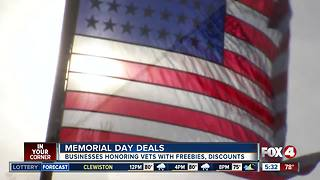 Businesses honor veterans with freebies and discounts - Video