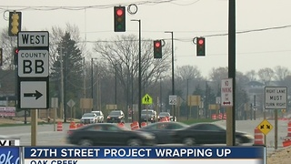 Oak Creek's 27th Street construction project wraps up - Video
