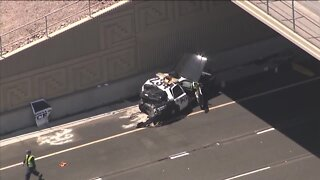 Mesa police officer injured in crash on US60