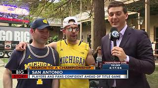 Players and fans confident ahead of title game - Video