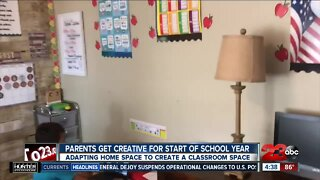 Parents get creative for distance learning