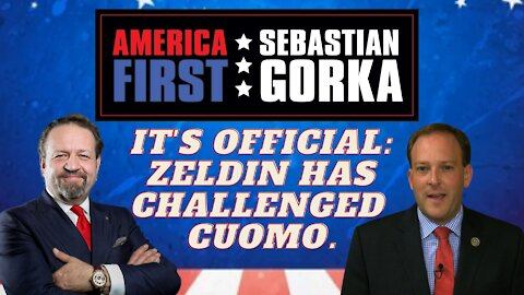 It's official: Zeldin has challenged Cuomo. Rep. Lee Zeldin with Sebastian Gorka on AMERICA First