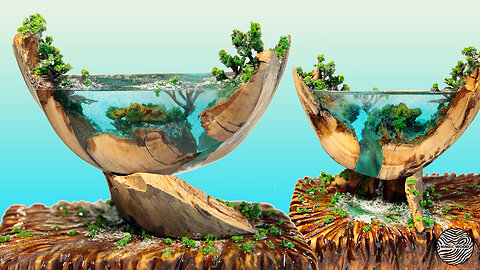 Incredible DIY miniature ocean landscape made from old wood